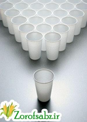 لیوان یکبار مصرف گیاهی
